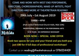 Looking for amazing summer activities for children? Theatretrain Summer Workshops – 29th July – 1st Aug 2019 – Grab your Early Bird Discount valid until 30th June 2019 and a special discount when you book two or more spaces together